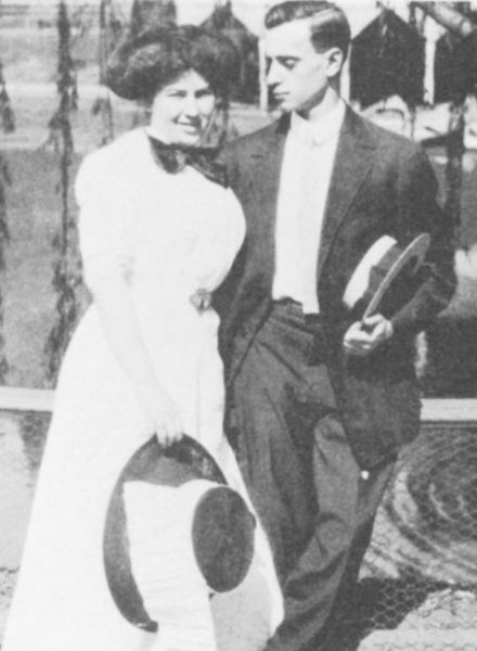 Lucille Selig and Leo Frank in Grant Park, Atlanta